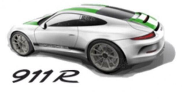 2016 Porsche 911 R-design render