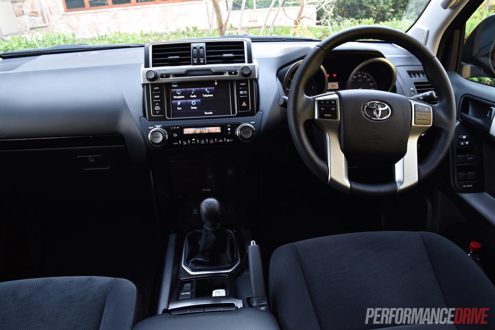 2016 Toyota Landcruiser Prado 28 Review Video Performancedrive Land Cruiser Interior Gxl Dash