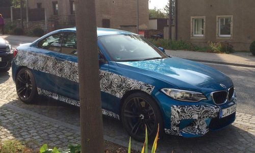 BMW M2 spotted in Germany wearing very little camouflage