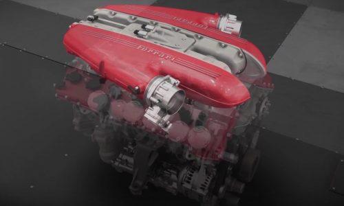Video: Ferrari F12tdf V12 engine detailed