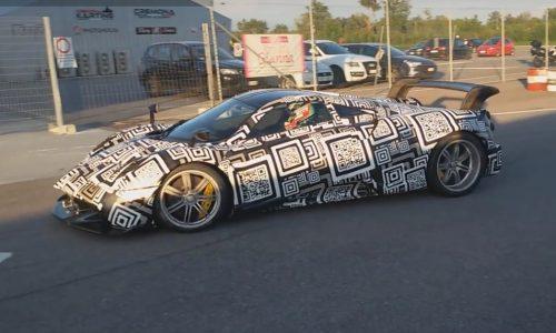 Hardcore Pagani Huayra prototype spotted, LaFerrari rival? (video)