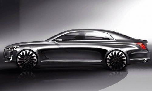 Hyundai previews new flagship sedan; the Genesis G90