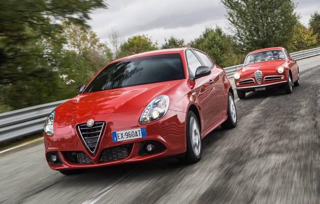 Alfa Romeo Giulietta Sprint-old and new
