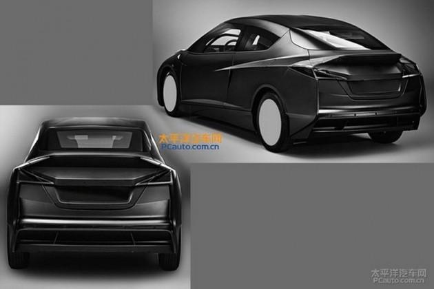 BMW i car design patent-rear