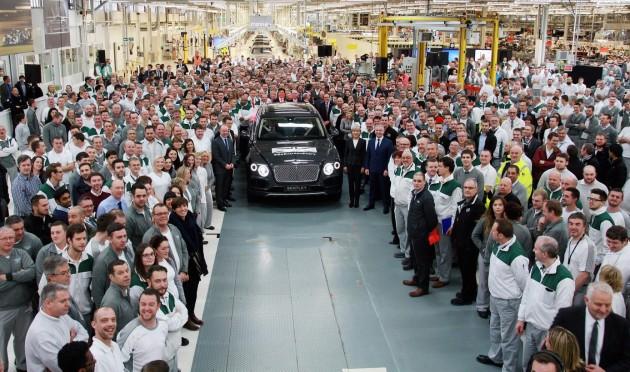 Bentley Bentayga production