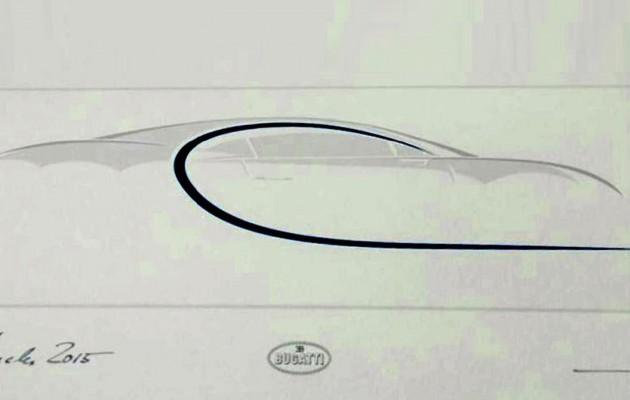 Bugatti Chiron teaser sketch