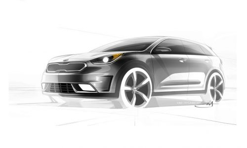Kia Niro previewed, new hybrid crossover arriving in 2016