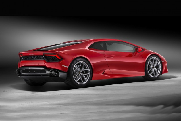 Lamborghini Huracan LP 580-2-rear
