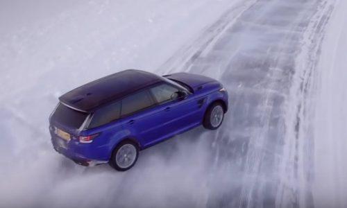 Video: Range Rover Sport SVR slides around ice-cut Silverstone
