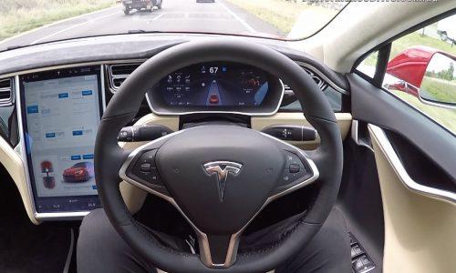 Video: Tesla Model S P90D Auto Pilot demo (POV)
