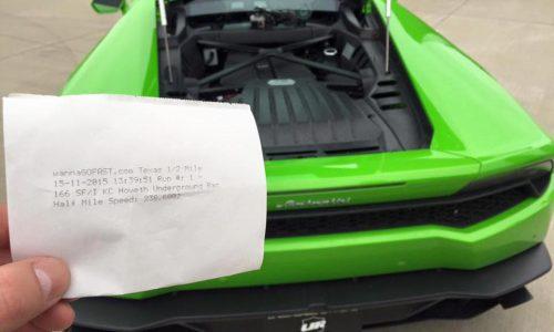 1491kW Lamborghini Huracan breaks half-mile world record (video)