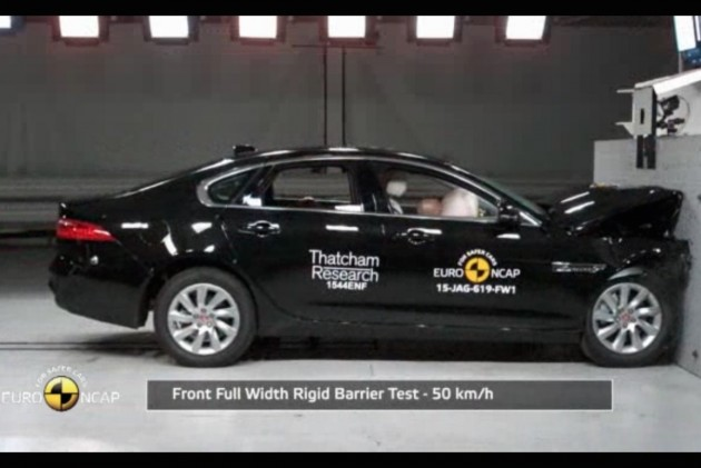 2016 Jaguar XF crash test NCAP