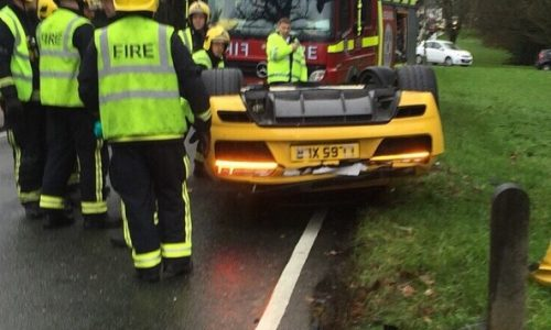 Audi R8 V10 rolled during customer test drive in the UK