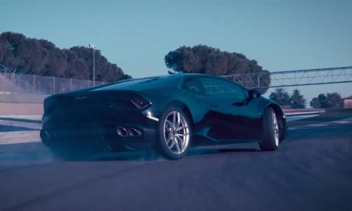 Video: Lamborghini Huracan LP 580-2 carves up Imola, sideways