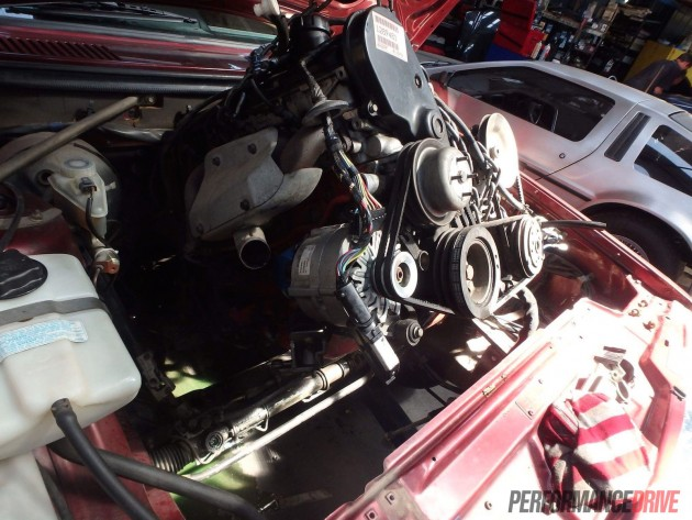Volvo 240 GL V8 project-engine out