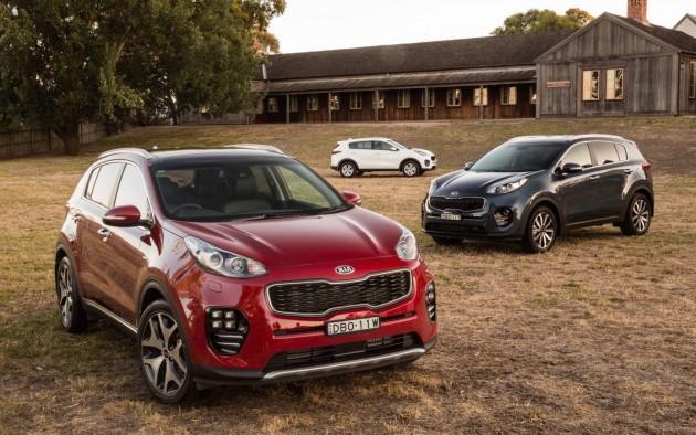 2016 Kia Sportage Australian lineup