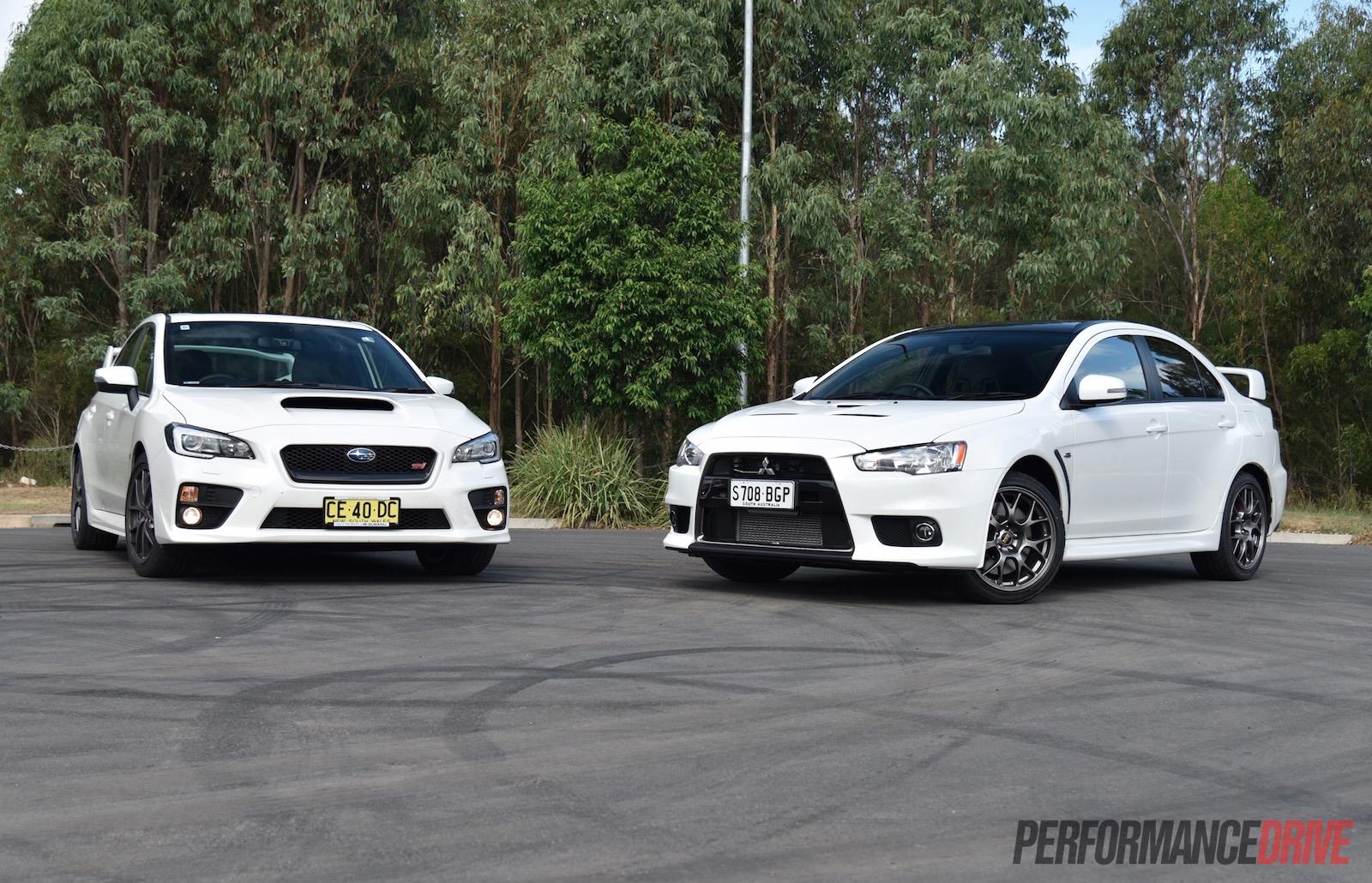 2018 Wrx 0 To 60 >> 2016 Mitsubishi Lancer Evolution vs Subaru WRX STI: comparison (video) | PerformanceDrive
