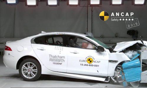 Jaguar XE awarded five-star ANCAP safety rating