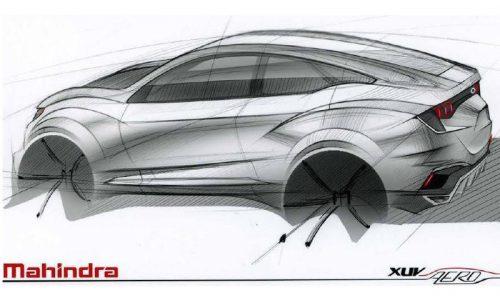 Mahindra XUV Aero concept previews striking coupe SUV