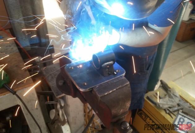 Volvo 240 GL LS1 mounts-welding
