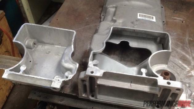 Volvo 240 GL-LS1 sump weld