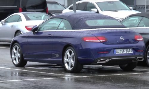 2016 Mercedes-Benz C-Class cabrio spotted, reveals exterior in full (video)