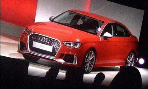 Audi RS 3 sedan revealed, images surface on social media