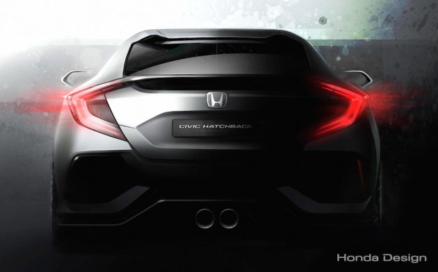 2017 Honda Civic hatch-preview