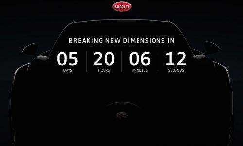 Bugatti Chiron countdown starts, reveal at Geneva show on March 1