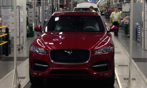 First Jaguar F-Pace rolls off production line in England