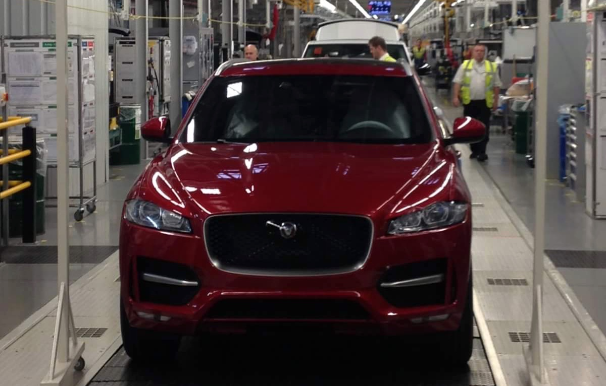 First Jaguar F Pace Rolls Off Production Line In England