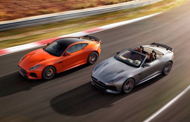 Jaguar F-Type SVR lineup