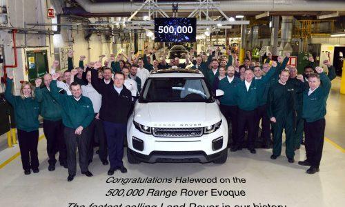 Range Rover Evoque hits 500,000 production milestone