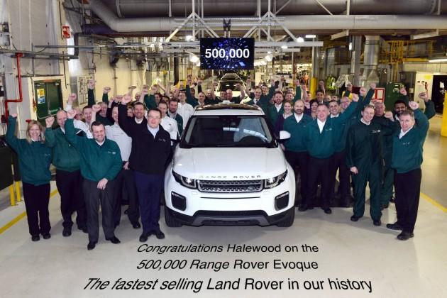 Range Rover Evoque 500000th production