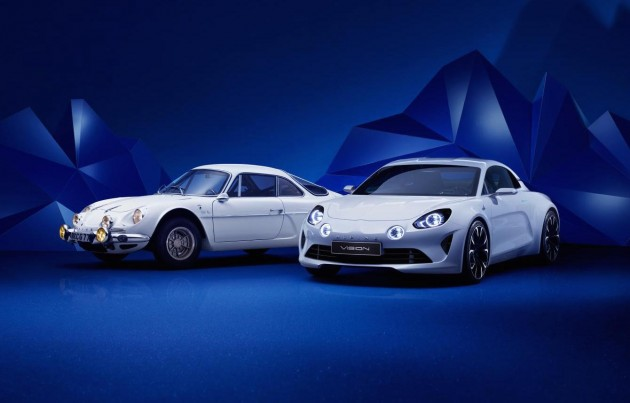Renault Alpine Vision concept-new and old