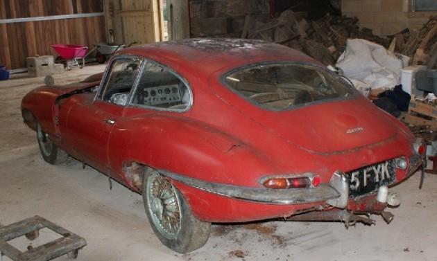 1963 Jaguar E-Type barn find-1