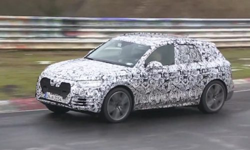 2017 Audi Q5 spotted at Nurburgring with MLB Evo platform (video)
