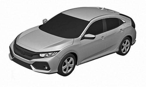 2017 Honda Civic Hatch patent images show sporty design