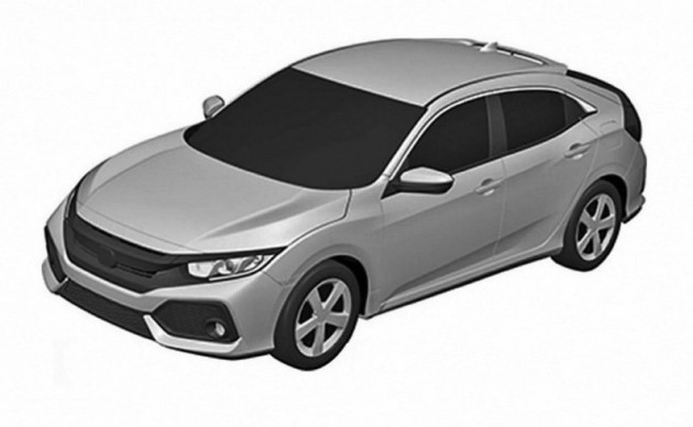 2017 Honda Civic Hatch patent-front