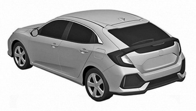 2017 Honda Civic Hatch patent-rear