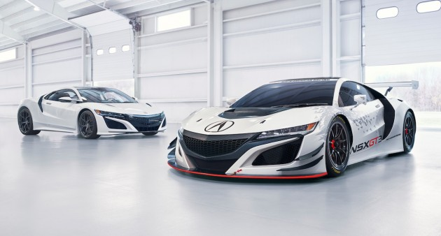 Acura NSX GT3 Race Car and road version