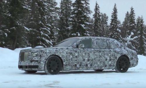 2018 Rolls-Royce Phantom prototype spotted in the snow (video)