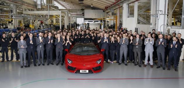 Lamborghini Aventador production 5000