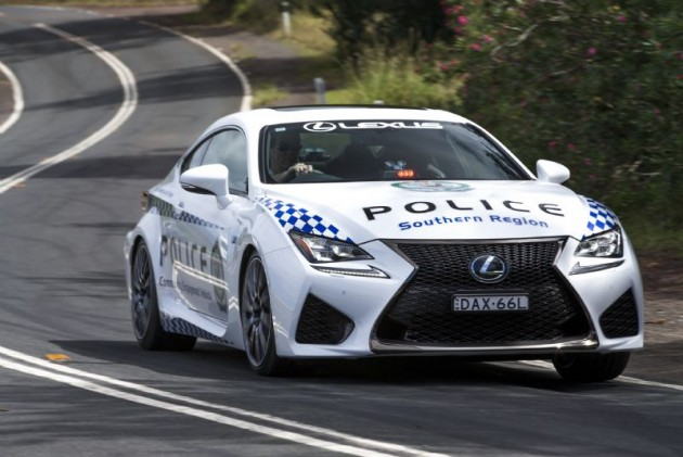 Lexus RC F police car-NSW