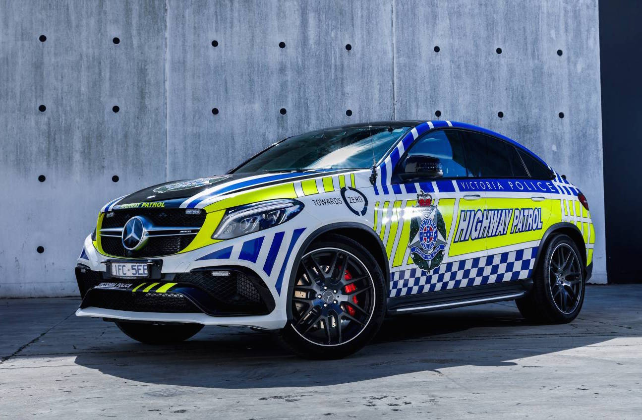 Victoria Police Recruits 200k Mercedes Gle Coupe Highway