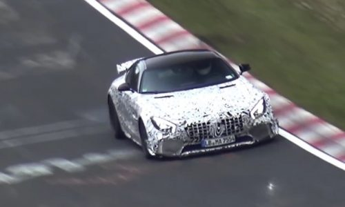 Mercedes-AMG 'GT R' spotted hard testing at Nurburgring (video)