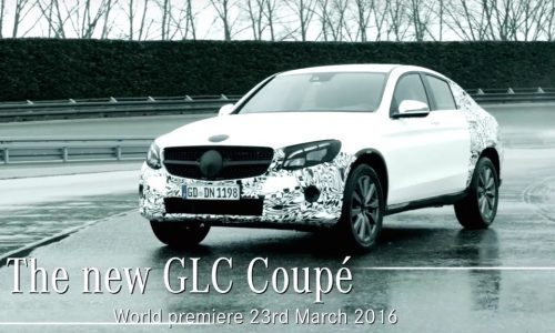 Mercedes-Benz GLC Coupe previewed before New York debut