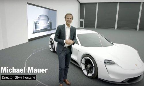 Video: Porsche Mission E design concept detailed