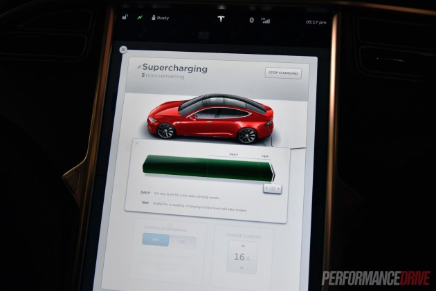Tesla Model S 90D-recharge settings