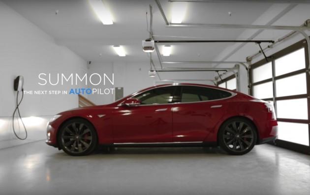 Tesla Model S Summon parking